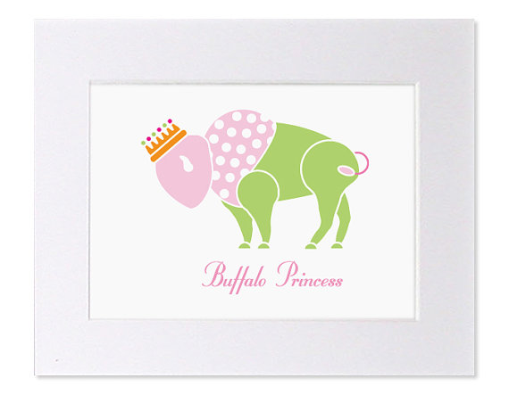 Buffalo Princess Matted Art Print