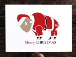 Buffalo Merry Christmas Card