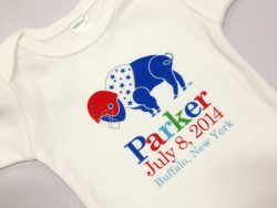 Personalized Buffalo Football Onesie