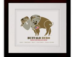 Buffalo Hero Veteran Art