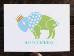 Buffalo Prince Birthday Card