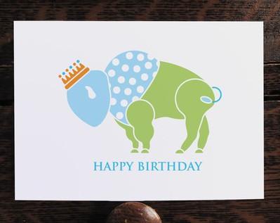 Buffalo Prince Birthday Card