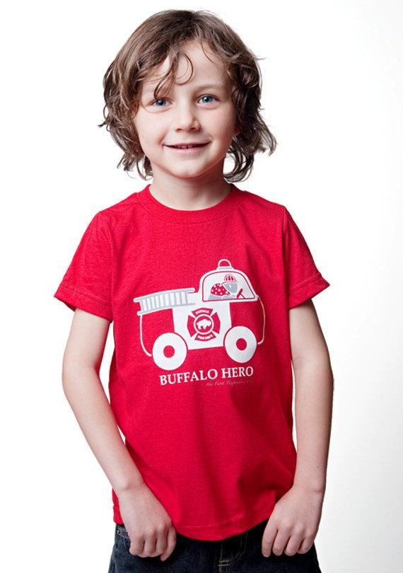 firefighter firetruck shirt