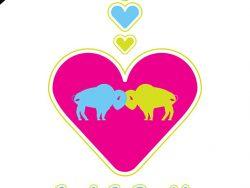 Love Buffalo Art Print