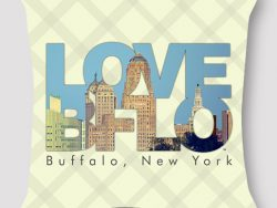 Love Buffalo Pillow