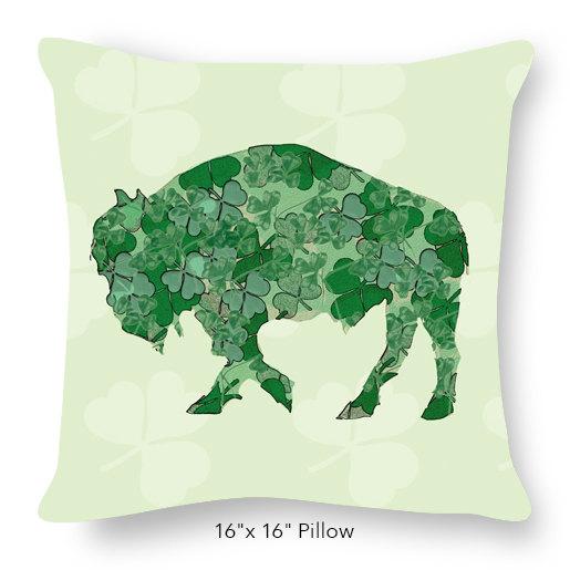 Buffalo Shamrock Pillow