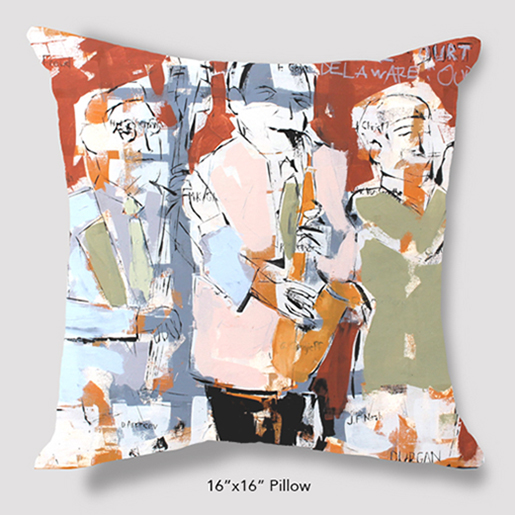 Inspired Buffalo Phil Durgan Horn Section Pillow