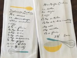Heirloom Recipe Tea Towels